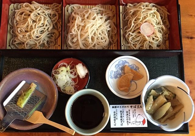 会津のそばを食べ比べ