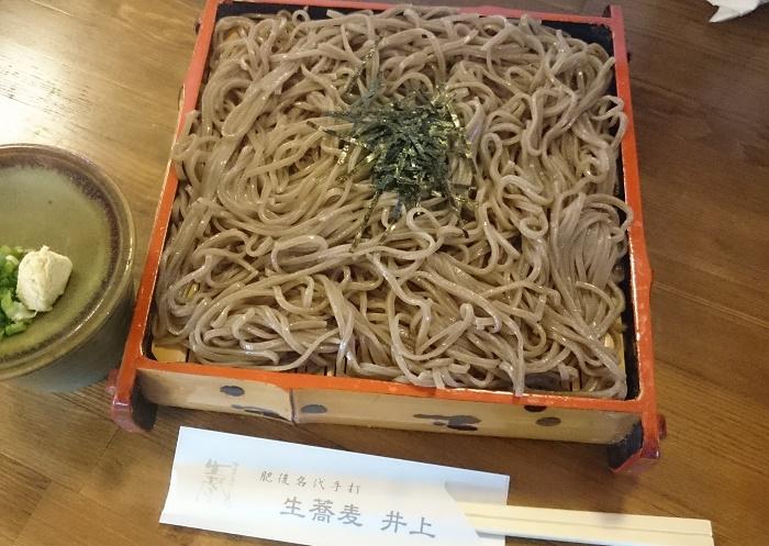 黒めの二八そば 「生そば井上」(熊本市)