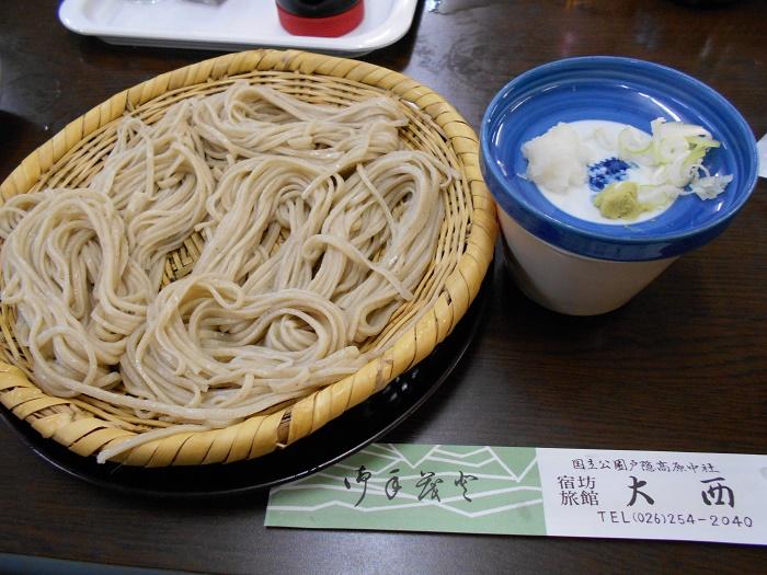 戸隠神社中社 宿坊の御主人が打つ伝統の蕎麦 「宿坊 大西」(長野市)