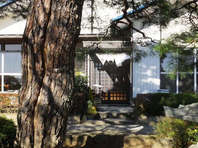 松の大木を見ながら食べるそば 「そば処松」(佐野市)